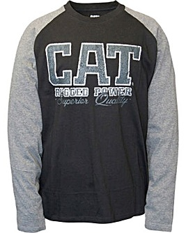 Caterpillar Rugged baseball T-Shirt