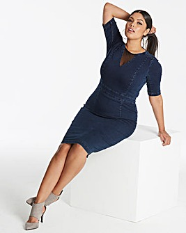 Shape & Sculpt Denim Pencil Dress