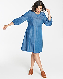 Soft Lyocell Denim Smock Dress