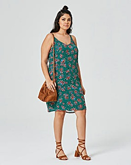 Green Floral Cami Dress