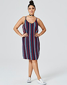 Multi Stripe Cami Dress