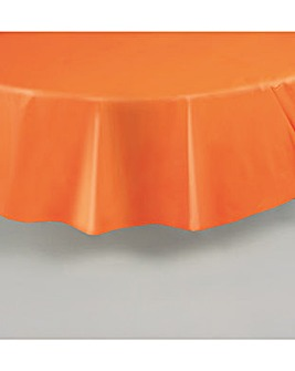 """Round Plastic Table Cover 84"""""""