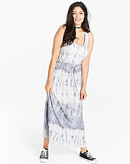 Blue/White Tie Dye Maxi Dress