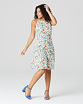 Multi Floral Cami Skater Dress