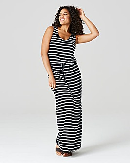 Black Stripe Vest Maxi