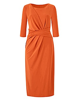 Orange Twist Knot Dress