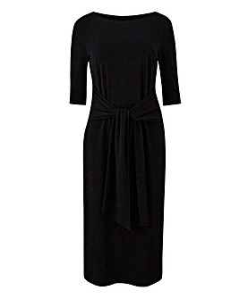 Black Tie Front Bodycon Dress