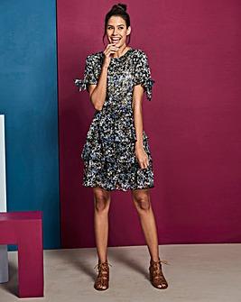 Layered Floral Skirt Dress