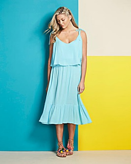 Double Layer Crinkle Dress