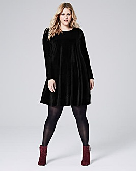Velour Swing Dress