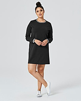 Rib Neck Sweat Dress