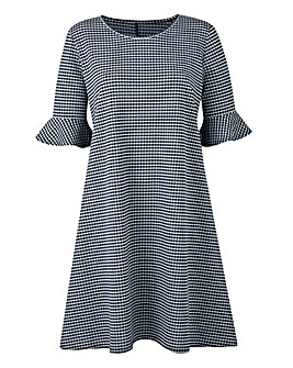 Gingham Print Swing Dress