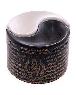 Ceramic 2 Part Ying Yang Oil Burner