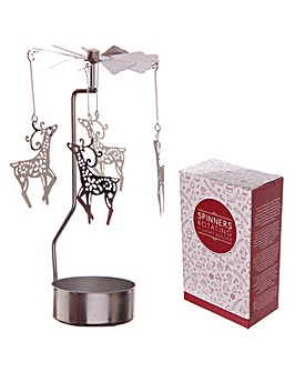 Spinning Tealight Holder - Reindeer