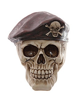 Novelty Skull Decoration Wearing Beret