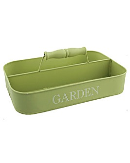 Garden Tin Storage Tray With Handle
