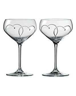 Royal Doulton Champagne Saucer Pair