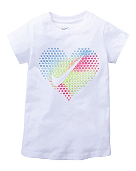 Nike Girls Pop Heart Short Sleeve Tee