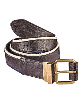 W&B Leather and Canvas Reversable Belt