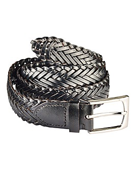 Williams & Brown Leather Plaited Belt