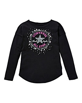 Converse Girl Sequin Chuck Patch T-Shirt
