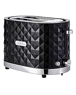 JDW Diamond 2 Slice Black Toaster