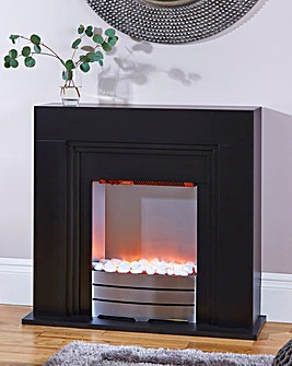 Calder Black Compact Fireplace Suite