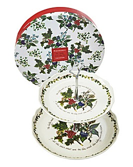 Portmeirion Christmas 2 Tier Cake Stand