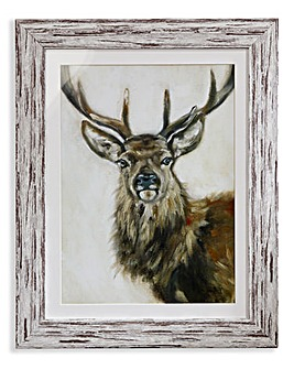 Arthouse Watercolour Stag Framed Print