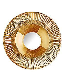 Sunburst Gold-Effect Mirror