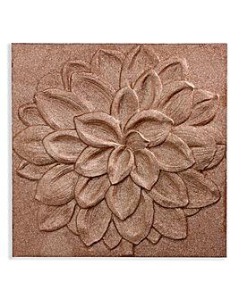 Dhalia Copper 3D Glitter Canvas