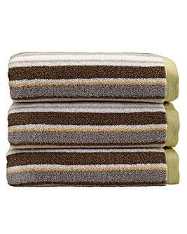 Christy Portobello Stripe Bath Sheet