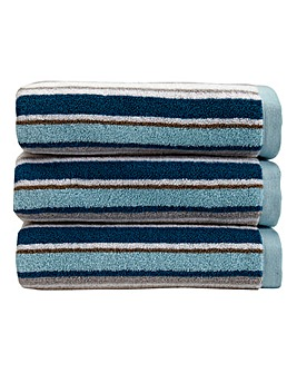Christy Portobello Stripe Hand Towel