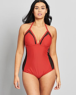 Simply Yours Red Mesh Swimsuit