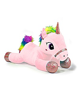 Unicorn Lying 40cm 3 Assorted Pink