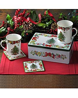 Spode 5 Piece Christmas Mug Gift Set