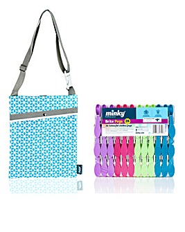 Minky Brites Pegs 36pk and Peg Bag