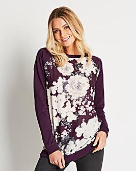 Woven Front Sweatshirt