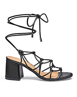 Megan Knot Detail Heels Wide Fit
