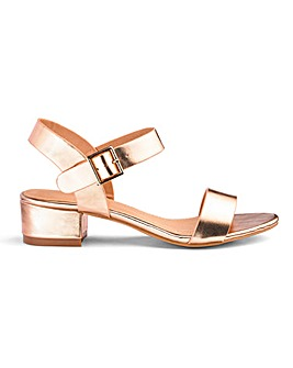 Frances Block Heel Sandals Wide Fit