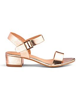 Frances Block Heel Sandals Wide Fit