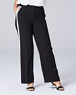 Magisculpt Crepe Wide Leg Side Stripe