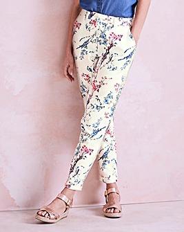 Linen Mix Tapered Leg Trousers - Reg
