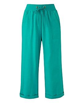 Crop Slouch Linen Mix Trousers Reg
