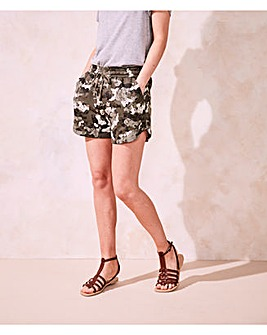 Pack of Two Print & Plain Shorts