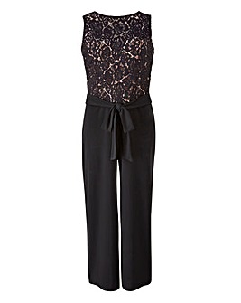 Lace Detail Culotte Jumpsuit