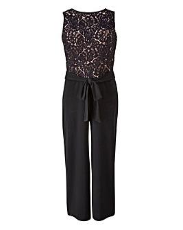 Lace Detail Culotte Jumpsuit