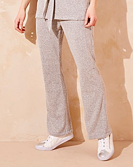 Grey Soft Touch Bootcut Leisure Trousers
