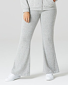 Grey Soft Touch Wide Leg Trousers