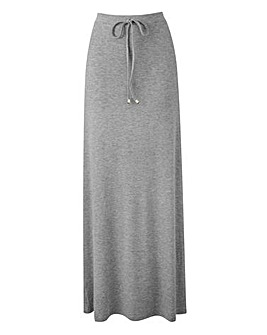 Grey Marl Jersey Maxi Skirt